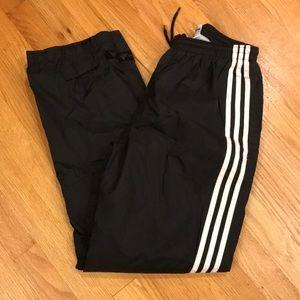 Boys ADIDAS Black & White Thin Running Pants Sz XL